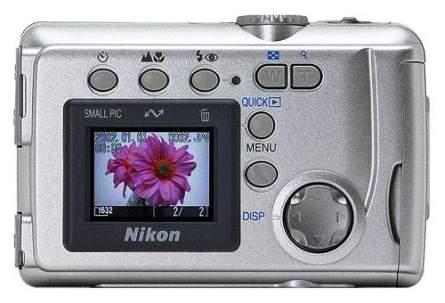 """""""Nikon coolpix 2000"""", тыльная часть"""