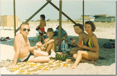 На пляже с Сергеем и его родными