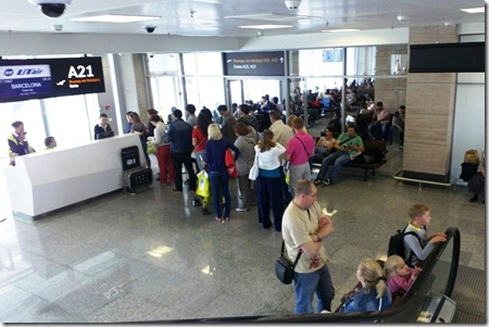 В аэропорту Пулково, посадка на самолет
