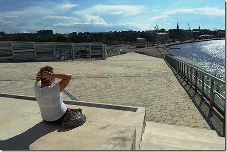 Вид на Котку с крыши Морского музея