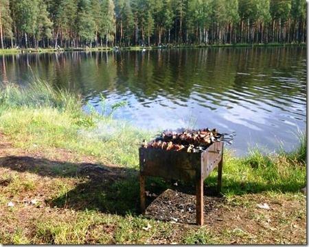 Шашлыки на Коркинском озере