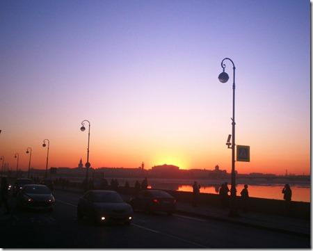 Закат над Биржей