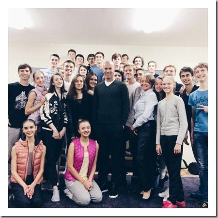 Зинедин Зидан в Академии русского балета имени Вагановой